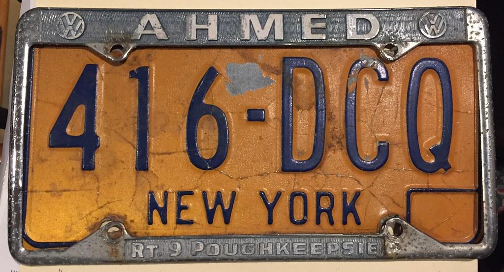 Dealer License Plate Frame, Ahmed VW. | Ahmed VW dealer lice… | Flickr