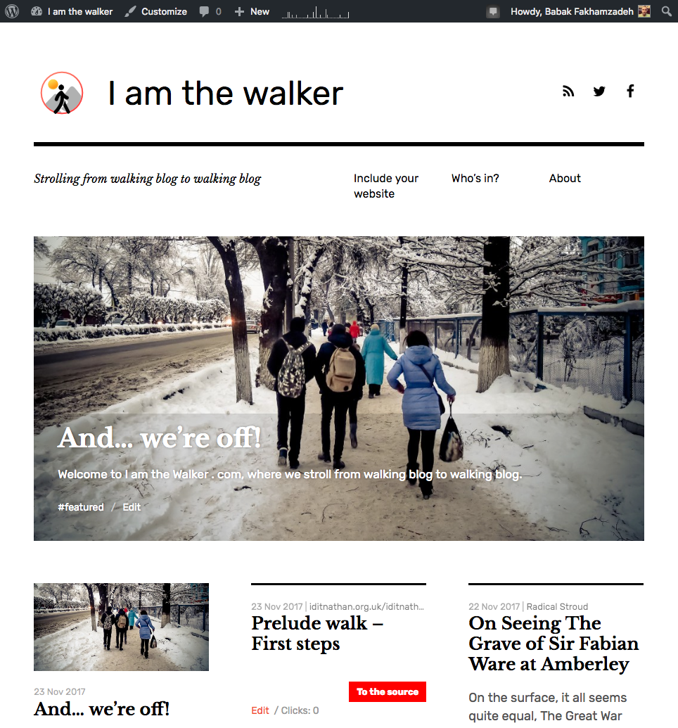 I am the Walker . com