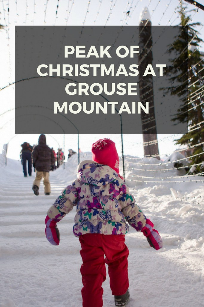 The Peak of Christmas at Grouse Mountain during the day