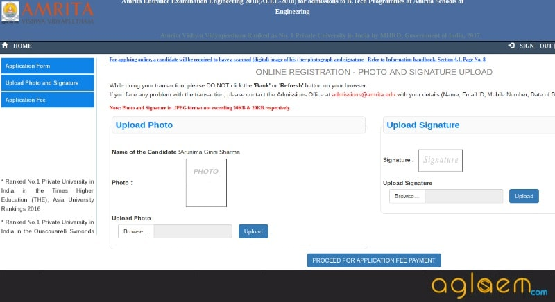 AEEE Application Form 2018 (Amrita Vishwa Vidyapeetham) – Apply Online / Offline