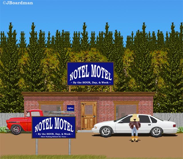 Chris checked the Notel Motel Burris Township ©JBoardman