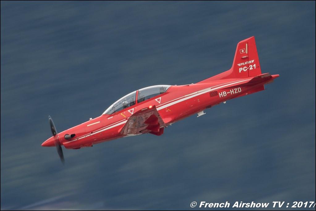 Pilatus PC-21 HB-HZD, avion d'entraînement suisse , Breitling Sion Air Show 2017 , sion airshow , montagne , Alpes suisse , Canton du Valais , Meeting Aerien 2017