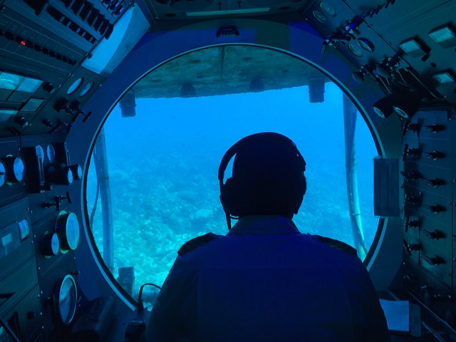 Submarino Atlantis en Barbados (Islas del Caribe en crucero)