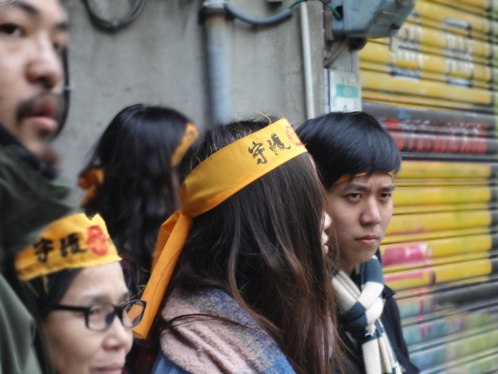 前來聲援大觀社區的學生。(攝影:張智琦)