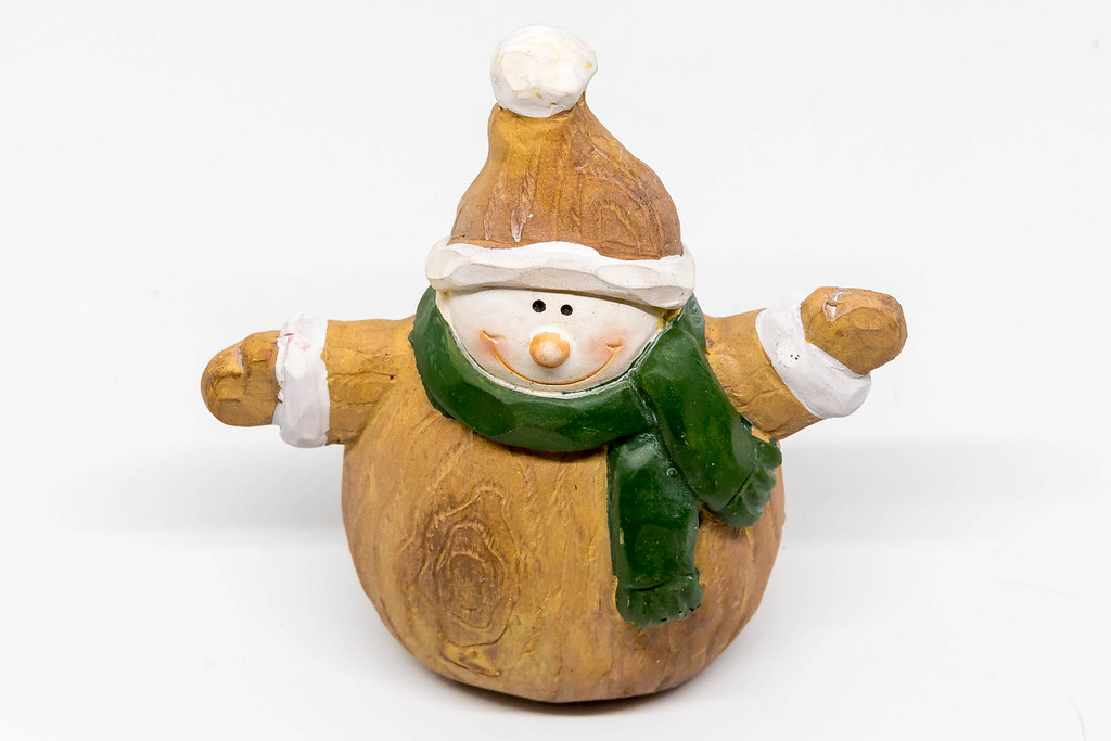 snowman made of wood by marcoverch