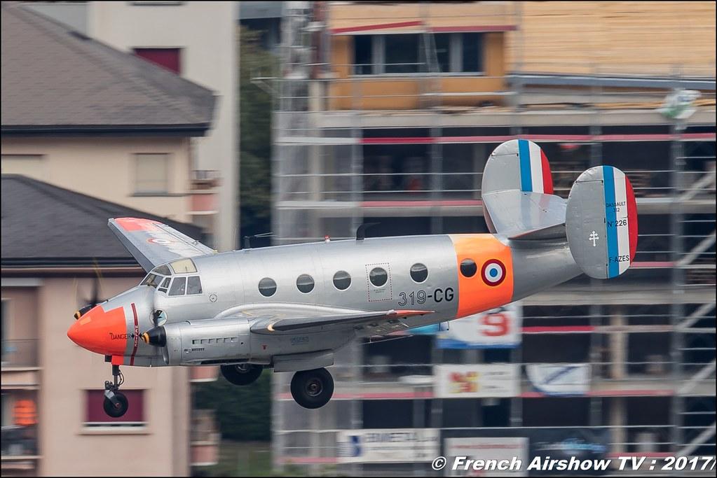 MD-312 FLAMANT F-AZES , N° 226, Breitling Sion Air Show 2017 , sion airshow , montagne , Alpes suisse , Canton du Valais , Meeting Aerien 2017