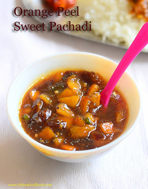 orange peel sweet pachadi