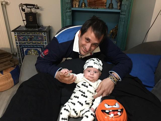 Sele y Unai en Halloween