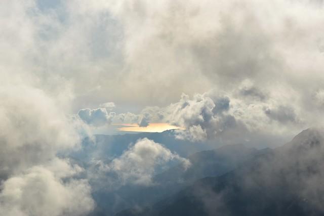 竜門小屋から眺める日本海