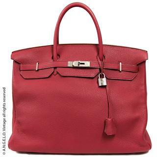 Birkin Hermès Vintage Rossa 40 cm