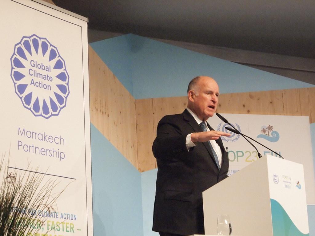 美國加州州長布朗在波昂氣候變遷會議Global Climate Action 高階開幕活動上擔任開場嘉賓。