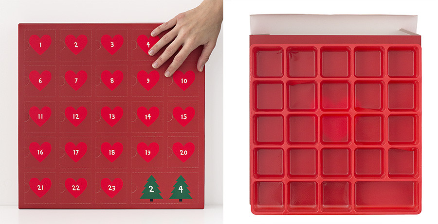 caja para calendario de adviento