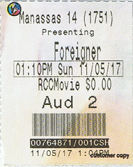 The Foreigner ticketstub