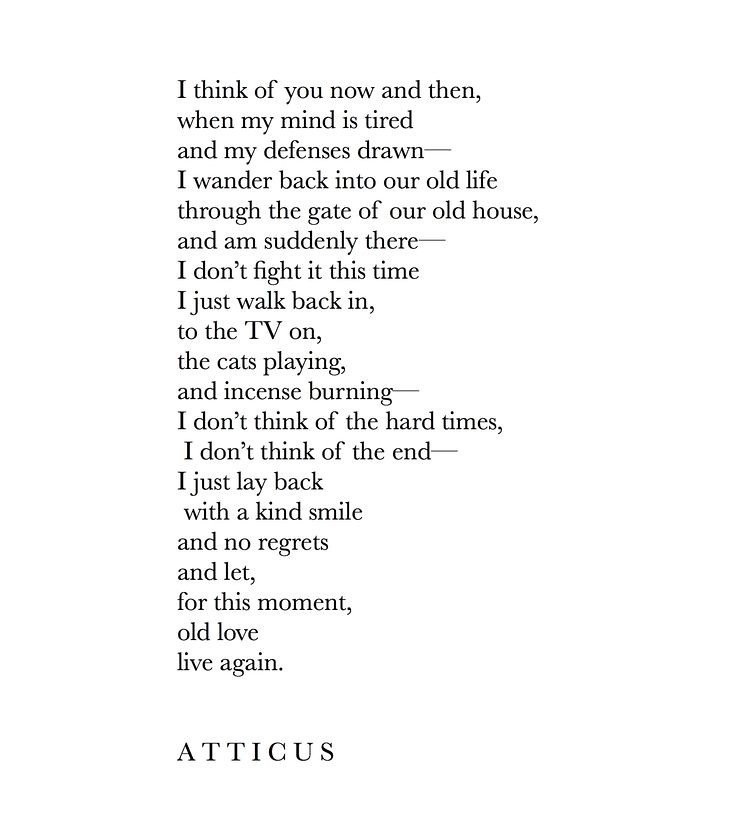 Saying Quotes About Sadness: Sad Love Quotes : 'Now & Then' #atticuspoetry #atticus #ol