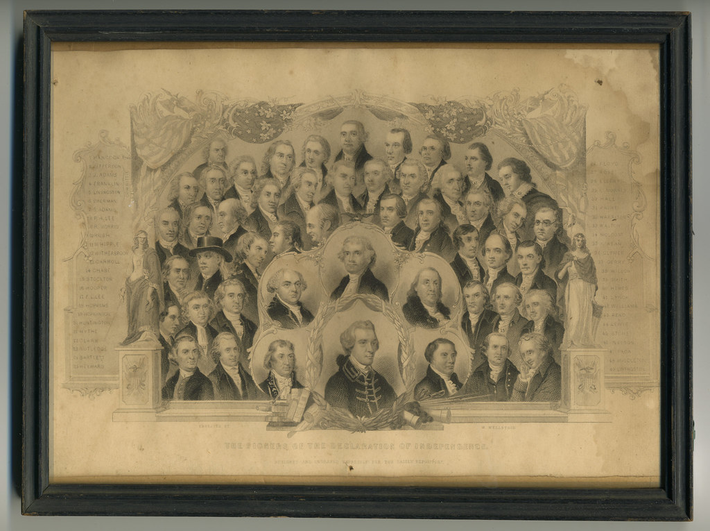 The Signers of the Declaration of Independence | Steel engra… | Flickr