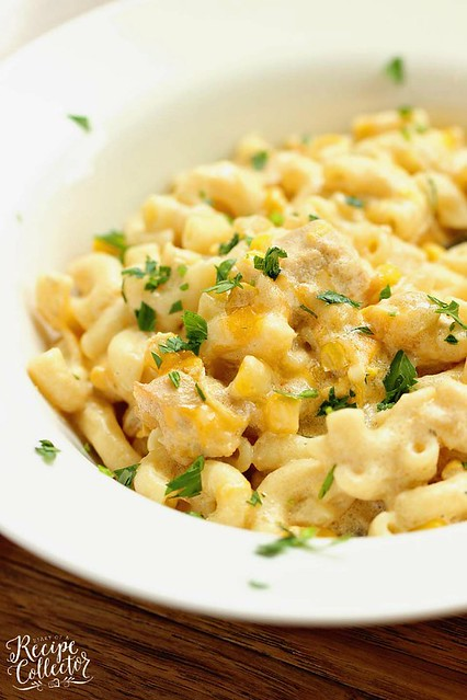 Green Chili Chicken Mac and Cheese