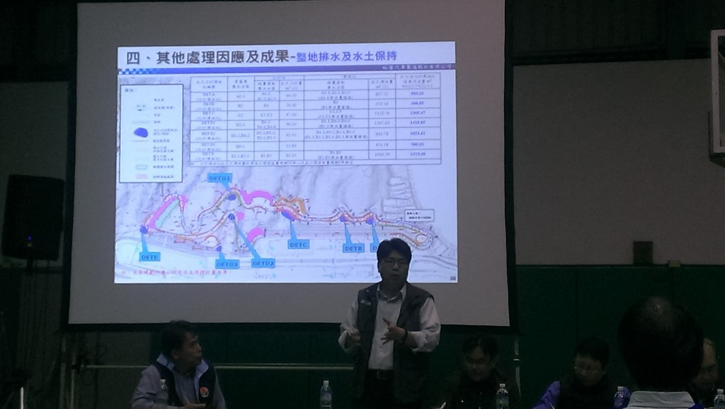 開發單位說明整地及水土保持計畫。