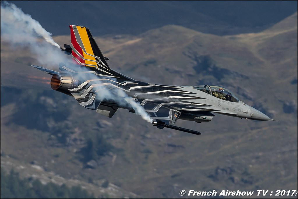 Belgian Air Force F-16 Solo Display , Breitling Sion Airshow 2017
