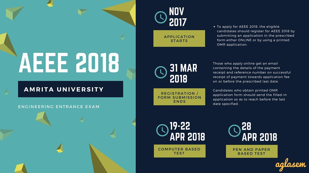 AEEE 2018 Application Form Released By Amrita University For Engineering Entrance Exam