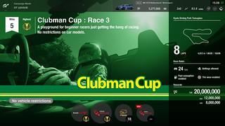 Gran Turismo Sport - GT League - Clubman Cup