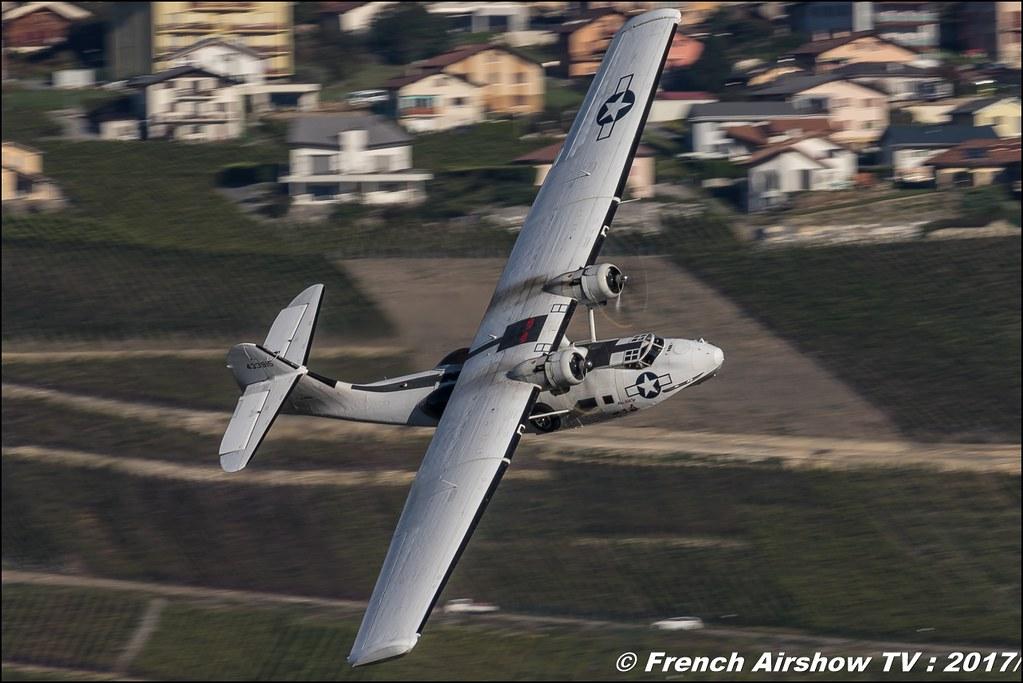 PBY-5A Catalina , G-PBYA 433915 CV283 , Breitling Sion Air Show 2017 , sion airshow , montagne , Alpes suisse , Canton du Valais , Meeting Aerien 2017
