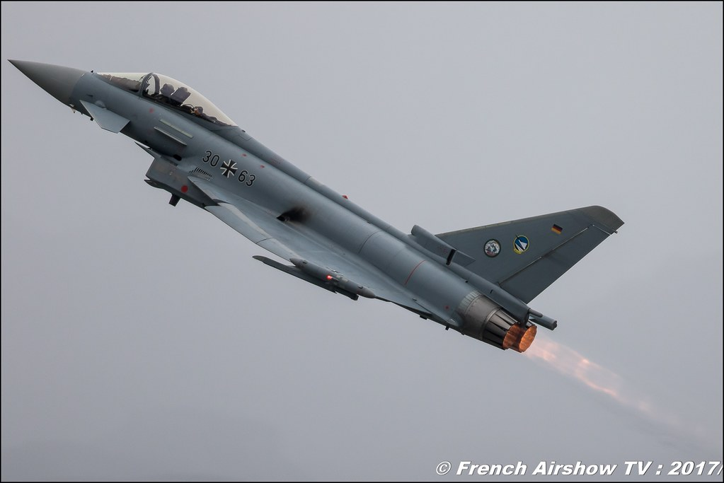 Eurofighter Typhoon Allemand EADS , Breitling Sion Air Show 2017 , sion airshow , montagne , Alpes suisse , Canton du Valais , Meeting Aerien 2017