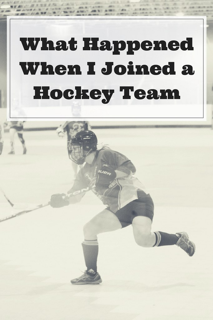 What happened when I joined a hockey team. How in person connections lifted my spirits and brought about greater joy.