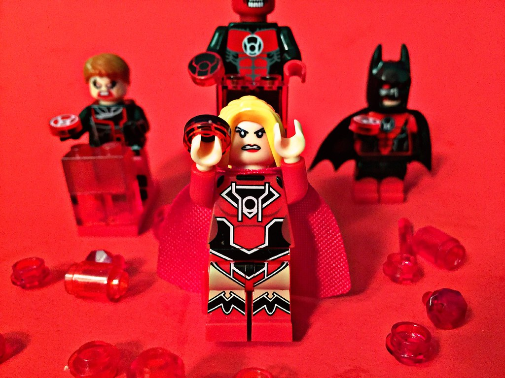 red lantern supergirl consumed with rage more red lantern flickr