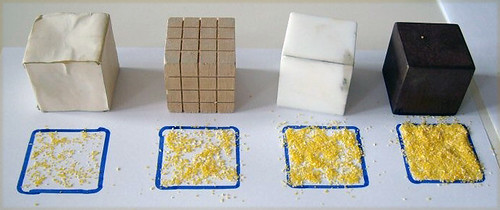 17 diversi materiali diversa densità