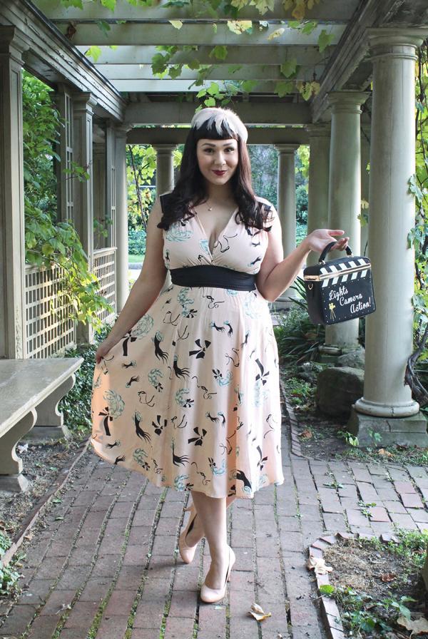 novelty print dress