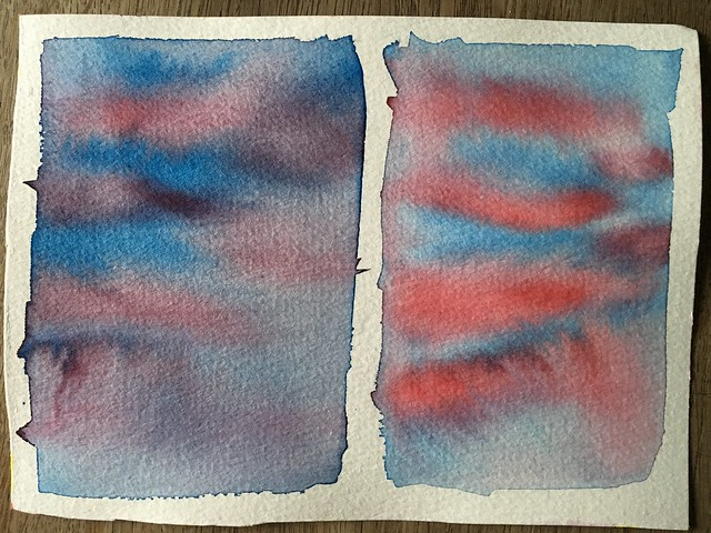 Watercolour experiments - explained in text