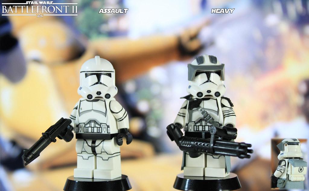 Custom LEGO Star Wars Battlefront II: Assault & Heavy Clon… | Flickr
