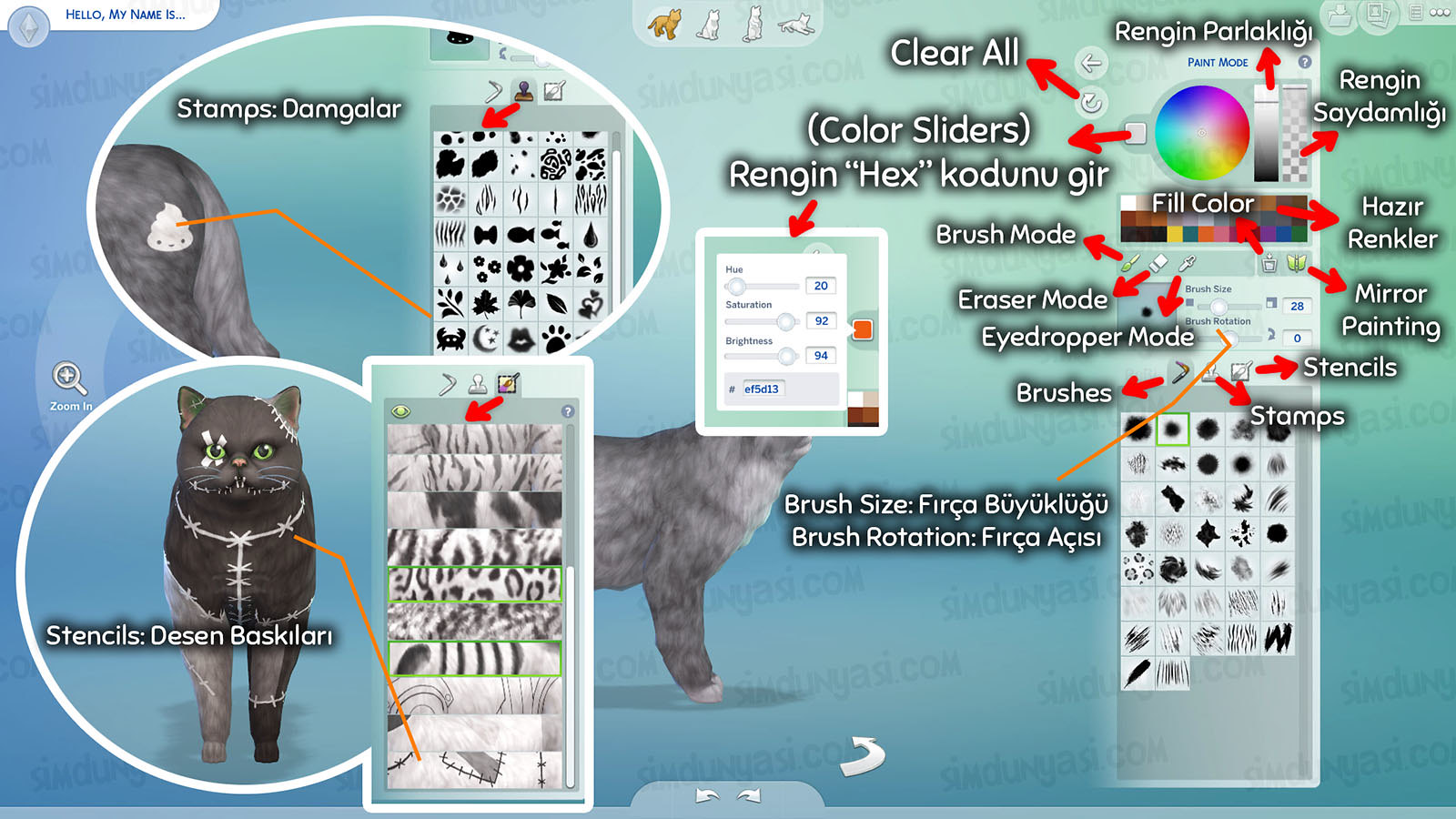 The Sims 4: Cats & Dogs Create a Pet Paint Mode Create a Style