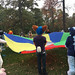 Playing with a giant parachute