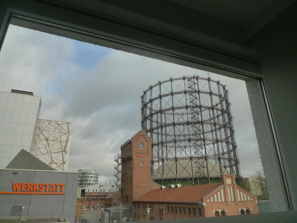 原是老煤氣工廠的EUREF campus的地標。(攝影/ 陳怡樺)