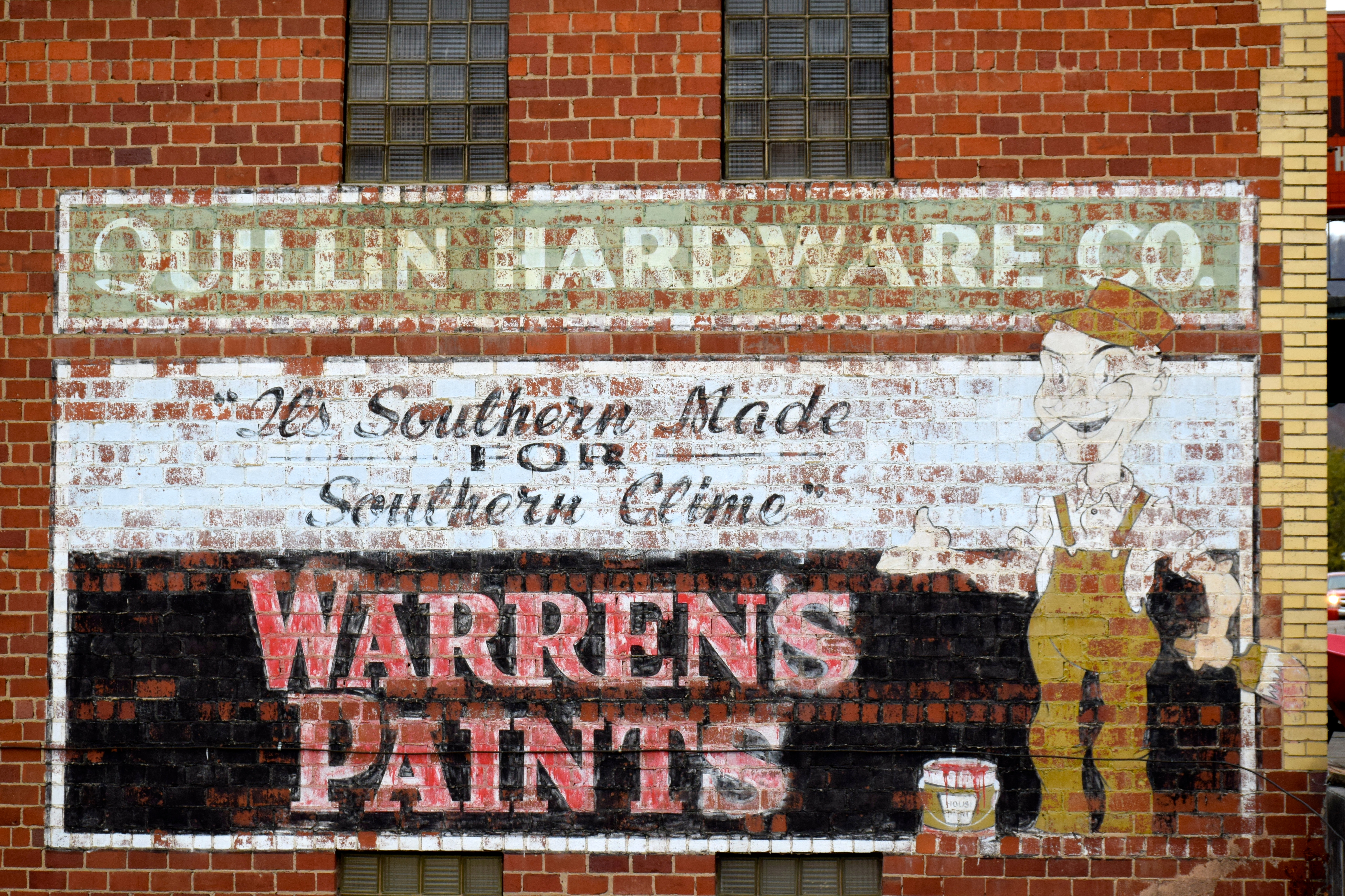 Quillin Hardware Company/Warren's Paints ghost sign - Gate City, Virginia U.S.A. - November 18, 2017