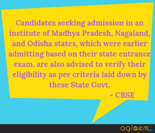 JEE Main State Eligibility