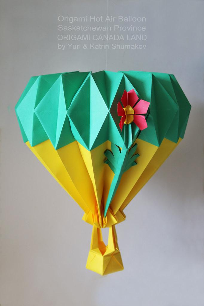 Origami Hot Air Balloon Saskatchewan Province Origami Ho Flickr