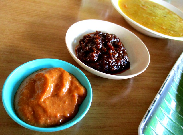 Sri Pelita chutney, sambal and dhal dip