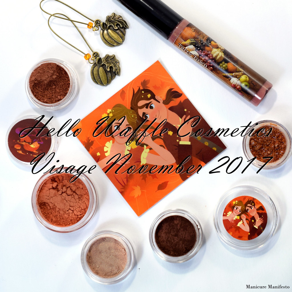 Hello Waffle Visage November 2017 swatch review