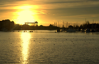 Golden glow at the docks | by Tony Worrall