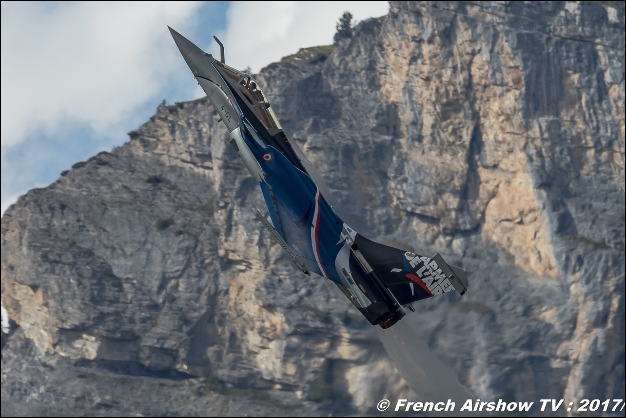 Rafale Solo Display , Dassault , RSD 2017 , French Air Force , Breitling Sion Air Show 2017 , sion airshow , montagne , Alpes suisse , Canton du Valais , Meeting Aerien 2017