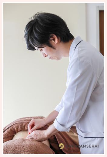 鍼治療の中部治療院(名古屋市中区)で商用撮影/院内写真、施術風景、スタッフ写真、美容鍼、不妊治療