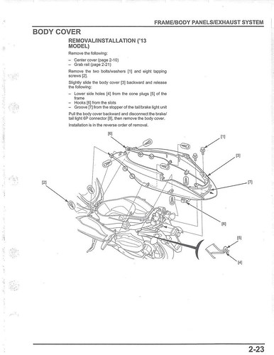 Honda 2013-2017 PCX Service Manual - 04 Body Cover | by kiapolo