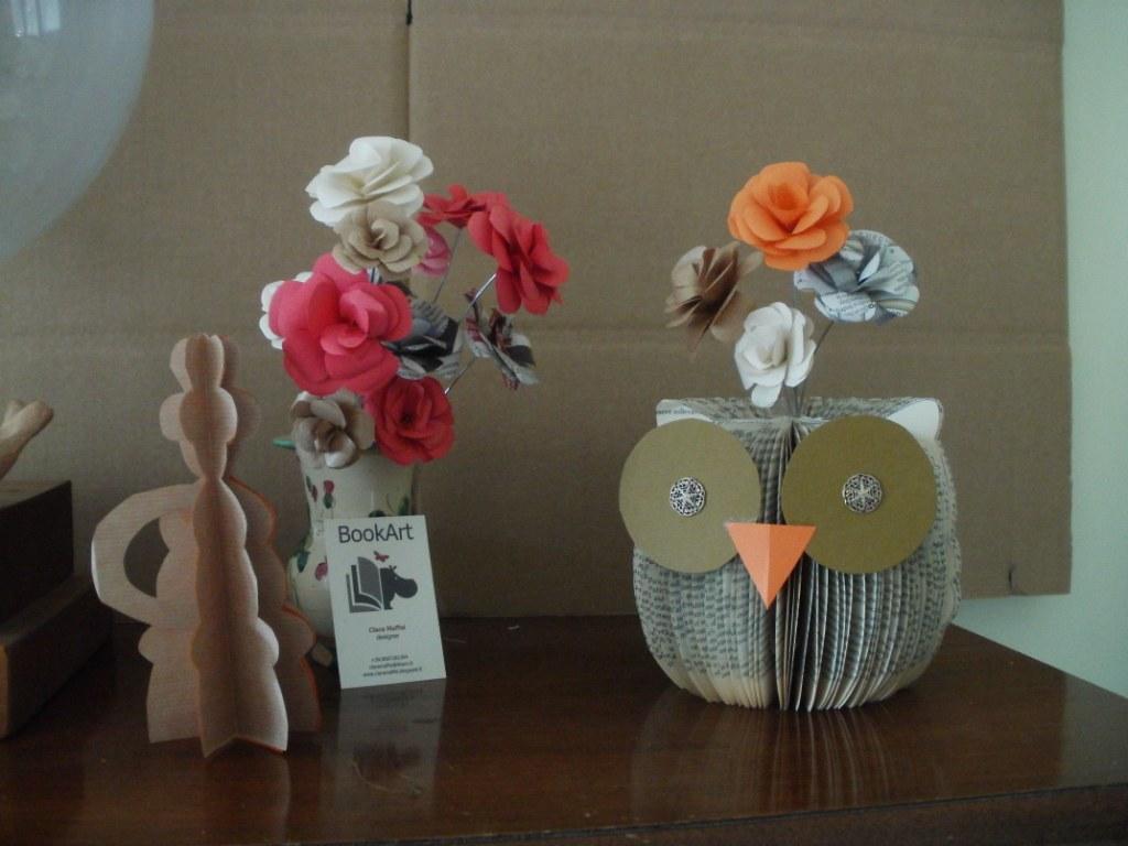 Folded Book Owl Paper Flower Arrangement Olympus Digital Flickr