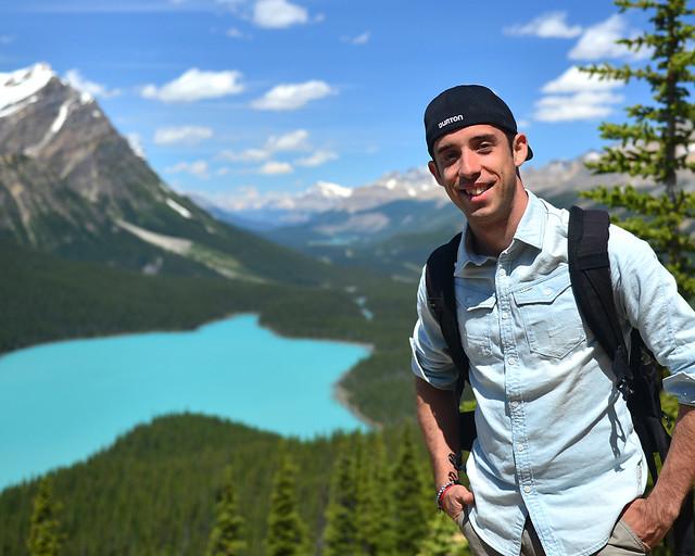 De ruta por Canadá con el lago Peyto al fondo