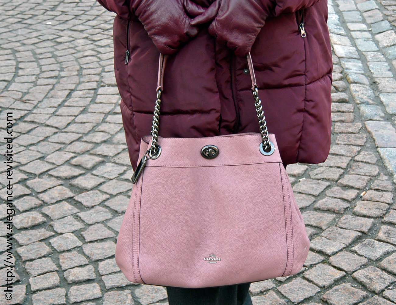 blush and burgundy