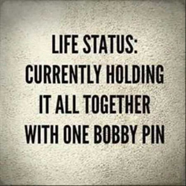Funny Quotes Life Status Currently Holding It All Toge Flickr