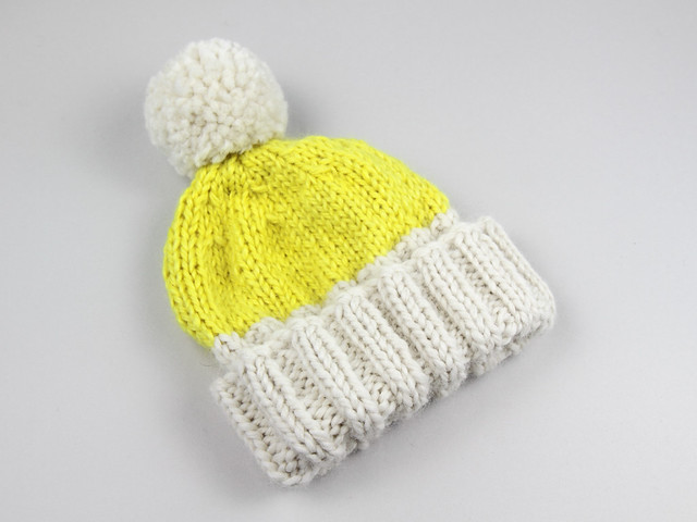 Hand-knitted Hoxton Luxe hat in baby alpaca – to fit baby/toddler