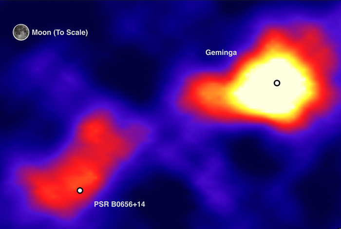 HAWC with its wide field of view sees the pulsars Geminga and PSR B0656+14